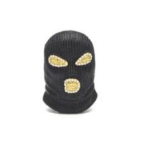 Hip Hop CSGO Colgante Collar Para Hombre Estilo Punk Oro Plateado Plata Negro Máscara Cabeza Charm Colgante de Alta Calidad
