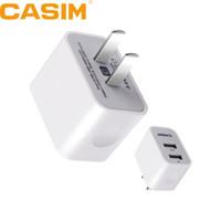 Casim S-U34 Original de haute qualité 5V 2.1A Plug Travel Universal US chargeur mural à la maison 2 ports USB Smart Quick Charge