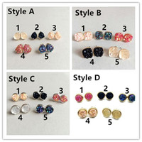 Hot 4 styles Kite shine Earring, Durzy Rock Lava Crystal Sto...