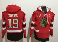 New Blackhawks Hoodies Jerseys # 19 Toews # 88 Kane Hockey Hoody Blanco y Rojo Color Stitched Size S-XXXL Todos los equipos Orden de la mezcla Todos Jerseys
