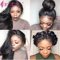 Brasilianisches gerades Haar spinnt mit Spitzenspitzeschliessen unverarbeitetes malaysisches peruanisches indisches Jungfrau-Menschenhaar-Extensions Remy-Haar-Einschlagfäden