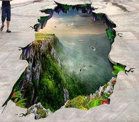 Vinyl Bodenbelag Wandbild Custom 3d Bodenfliesen Bergspitze Tapeten Wohnkultur 3d Boden Tapeten für Wohnzimmer