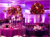 toptan Yeni! Zarif uzun kristal çiçek vazo standı düğün 234 kristal masa centerpieces