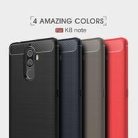 10 PCS Fiber De Carbone Cas Pour Lenovo K8 Note robuste armure antichoc cas pour Lenovo K8 Note couverture 2017 vente chaude