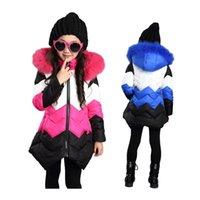 cute thick girl' s down coat warm removable overcoat for...