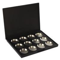 Wholesale- JFYB-Makeup化粧品の空12個のアルミニウム磁気アイシャドウアイシャドウ顔料鍋パレットケース