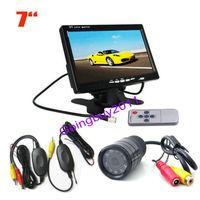 """7"""" LCD Monitor Kit + 9 LED IR sensores inalámbricos posterior del coche de la cámara del estacionamiento envío"""