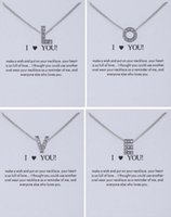 New Dogeared Necklace With Card 26 Letters A- Z With Crystal ...
