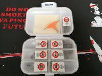 7 in 1 vorgefertigten Spule Box Kit Clapton Hive Tiger Quad Mix verdreht versetzt Treppe vorgefertigten Wrap Drähte mit Baumwolle DHL