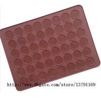 Silicone Macaron Plaque De Cuisson Tapis Muffin DIY Chocolat Biscuit Moule 48 Capacité Ronde pour Macaron Biscuit De Gâteau
