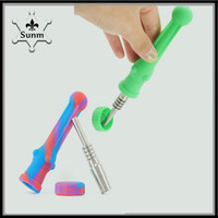 Colorful Second Silicone Nectar Collector Kit With Grade 2 T...