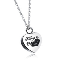 "17x6mm "" Always in My Heart"" Silver Heart Cremation..."