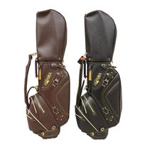 Leather Golf cart bag High grand golf caddie bag white brown...