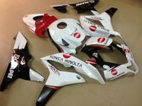 Injektionsgjutning ABS plastfeoking kit för Honda CBR600RR 07 08 Vit Svarta Röda Fairings Set CBR600RR 2007 2008 OT25