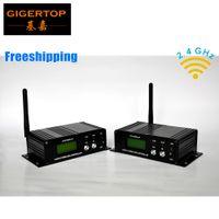 2 pcs/lot Wireless DMX 512 Receiver/transmissor Controller 2.4 G wireless DMX512 Lighting Controller DMX512 Free shipping!!