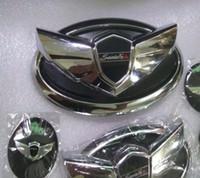 3D الجبهة مصبغة الشواية شارة شعار الشارات غطاء محرك السيارة ملصق شعار السيارة يناسب: كيا / هيونداي سورينتو 2013 سانتا في ix45