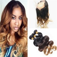 Ombre Body Wave Brazilian Hair With 360 Lace Frontal Closure...
