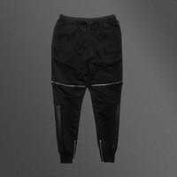 Mens Knie Reißverschluss Füße Jogginghose Verstärktes Leder High Street Hip  Hop Hosen Marke Männer Casual Hosen Slim Fit Hosen 2533960771