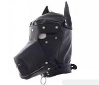 الجنس الوثن لعب دور الكلب الرقيق رئيس هود اغطية الرأس عبودية المغلقة بالكامل متعة أقنعة القبعات لعبة الجنس لعبة BDSM للأزواج