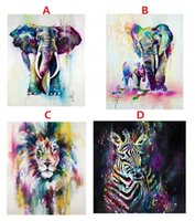 Colorful Abstract elephant lion zebra, High Quality genuine H...