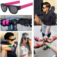 Al por mayor-Slap Gafas de sol de moda Pulsera creativa Slappable Glasses Snap Pulsera Bandas