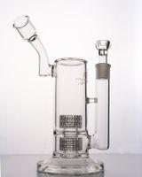 Design Mobius - Bangs en verre - Dab Rig Double Stereo Matrix Perc - Conduite d'eau avec joint de 18 mm