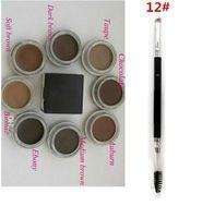 눈썹 포마드 중간 갈색 방수 메이크업 눈썹 4g 금발 초콜렛 다크 브라운 흑단 적갈색 중간 갈색 TALPE + 12 # 눈썹 브러시