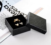 [Simple Seven] 6.3 * 6.3 * 2.3cm Classic Black Jewelry Ring Box، سوار حمل الورق التخصصي، عرض قلادة المهرجانات مع الإسفنج