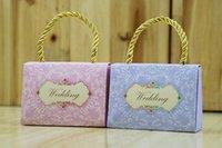 2017 Ny handväska stil bröllop favoriser lådor godis box lyx europeisk romantisk gåvor lådor chokladhållare