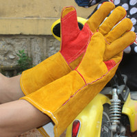 Woodburner Handschuhe Hochtemperaturofen einsame ausgekleidete Schweißer Handschuhe Holzfeuer Schweißen Handschuhe Schweißer
