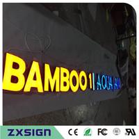 Signes de lettre acrylique extérieure lightbox acrylique sur mesure, fronlit conduit canal lettre publicitaire