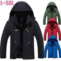 Toptan-Boyut 4XL 5XL Kış Ceket Erkekler Marka Windproof Kapşonlu İnce Palto Motosiklet Su Geçirmez Ceketler Rüzgarlık Erkekler CF024