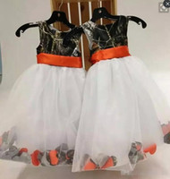 Hot Sale Camo Flower Girls Dresses Jewel A Line Organza Back...
