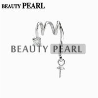 10 Pieces Pendant Settings for Drop Pearl 925 Sterling Silve...