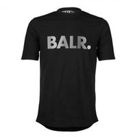 Balr تي شيرت الرجل 100٪ ٪ جودة عالية قصيرة الأكمام Balred t-shirt أعلى المحملات للرجال القطن ماركة الملابس جولة أسفل طويلة عودة س