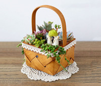 6PCS- PACK Country Style Vintage Wood Garden Flower Planter ...