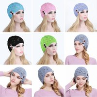 2018 Newest Knitted Hat Gorros Women Hat Leaves Lace Button ...