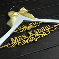 Personalized Wedding Hanger with Date Bridal Bride Hanger Cu...