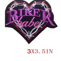 CUSTOM BASSO PREZZO BIKER BABE RICAMATO MOTO BIKER MC ROCK IRONSEW LADIES PATCH PATCH SPEDIZIONE GRATUITA