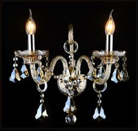 European Style Crystal wall Lamp luxury Bedroom Bedside Wall Aisle Ktv Candle K9 crystal wall lamp 1/2/3 heads ights