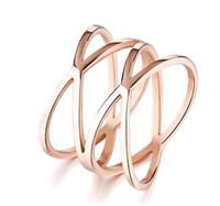 Корейский стиль указательный палец кольца из нержавеющей стали Птичье гнездо полые резные розовое золото покрытием кольца для женщин