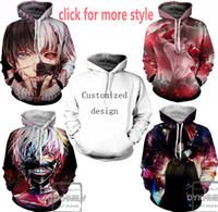 Neue Mode Paare Männer Frauen Unisex Tokyo Ghoul 3D Print Hoodies Pullover Sweatshirt Jacke Pullover Top S-6XL TT52