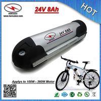 Toptan Şarj Edilebilir Elektrikli Bisiklet Pil fiyat 24 V 8Ah Lityum pil ile su şişesi alüminyum kasa 18650 cep 15A BMS