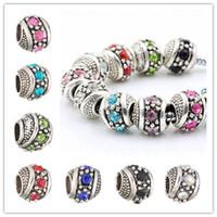 Branelli allentati di cristallo placcato argento dei fascini adatti il braccialetto europeo dei gioielli delle donne di lusso europeo di fascino europeoNecklace