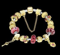20CM Gift!!! Authentic Gold Charm Bracelet with Heart Safety...