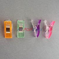 2.7x1cm plastique couture Tissu Tidy Bordure Produits d'épicerie Paquet poignée de serrage papier printemps petits clips Demi ClearColor 100pcs