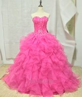 2016 New Quinceanera Dresses Ball Gowns With Organza Tiered ...