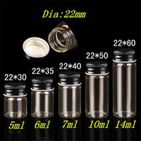 25 Stück 5 ml 6 ml 7 ml 10 ml 14 ml kleine Glasflaschen mit schwarzem Aluminium Schraubverschluss DIY wünschen Flaschen 5 Arten von Größe