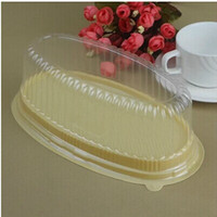 100 Pcs Big Oval Clear Cake Container   Plastic Cupcake Box ...