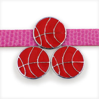 Toptan basketbol çinko alaşım 10mm kaymak Charms DIY Aksesuarlar Fit 10mm Pet Yaka bileklik SL496